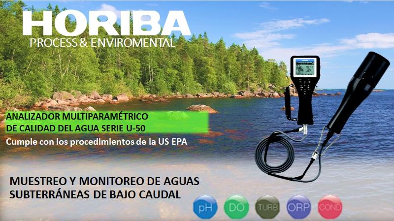 Analizador multiparamétrico de calidad de agua serie u-50 marca HORIBA